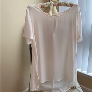 *LIKE NEW* LUSH Soft Pink Short Sleeve Blouse